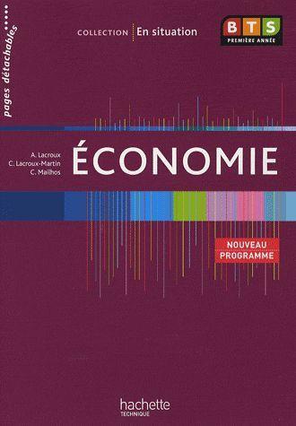 économie ; BTS 1ère année ; livre de l'élève