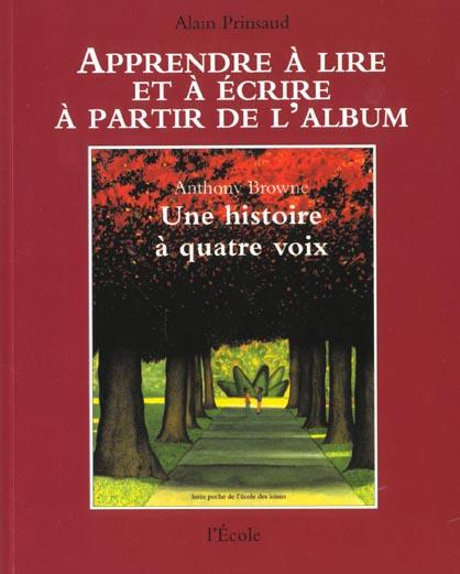 APPRENTISSAGE HISTOIRE A QUATRE VOIX PRINSAUD ALAIN