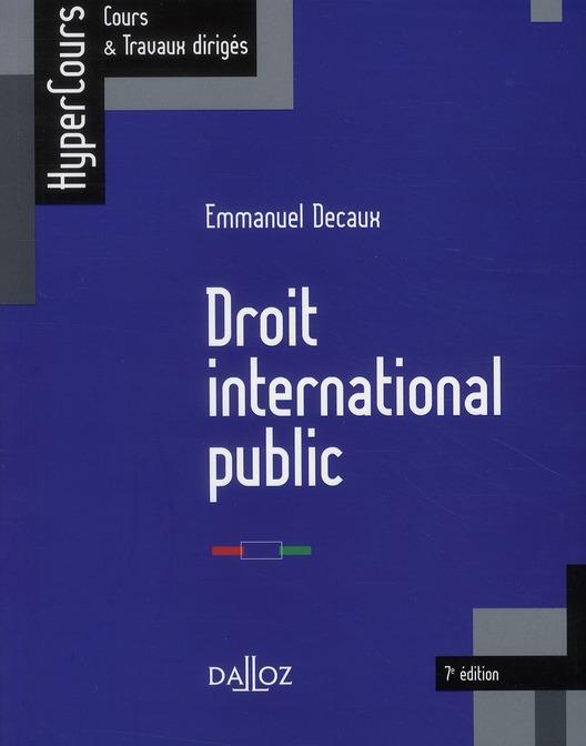 Droit international public (7e édition)
