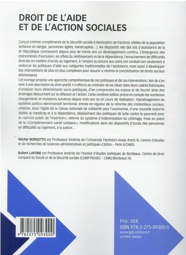 Droit de l'aide et de l'action sociales (11e édition)