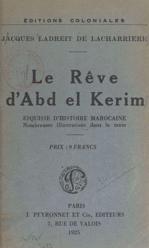 Le rêve d'Abd-el-Kerim, esquisse d'histoire marocaine