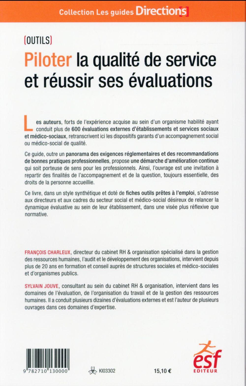 Piloter la qualité de service apres l'évaluation