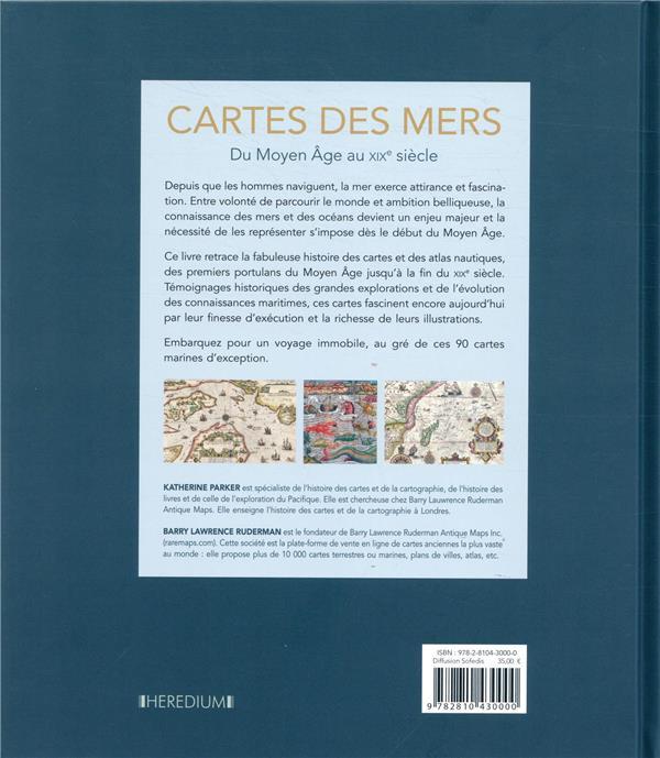 Cartes des mers ; du Moyen Age au XIXe siècle