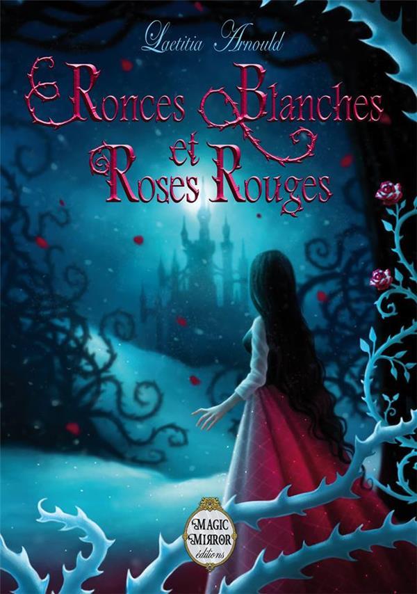 Ronces blanches et roses rouge