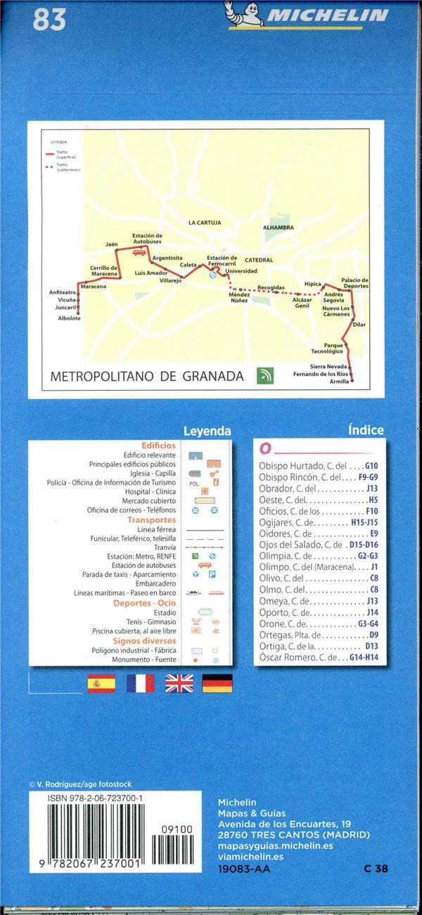 Granada ; plano e indice