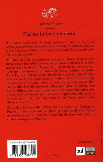 Martin Luther, un destin (4e édition)