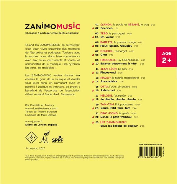 Zanimomusic ; chansons à partager entre petits et grands !