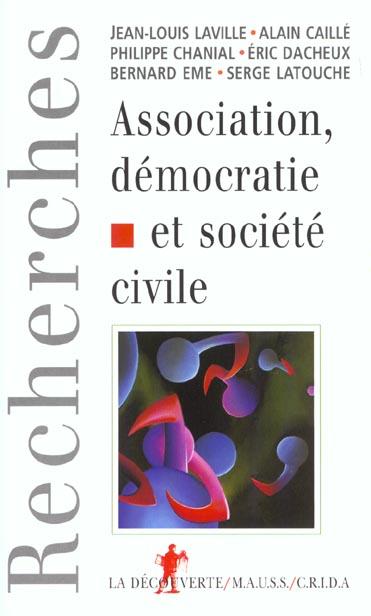 Association et democratie ; s'associer pour quoi faire