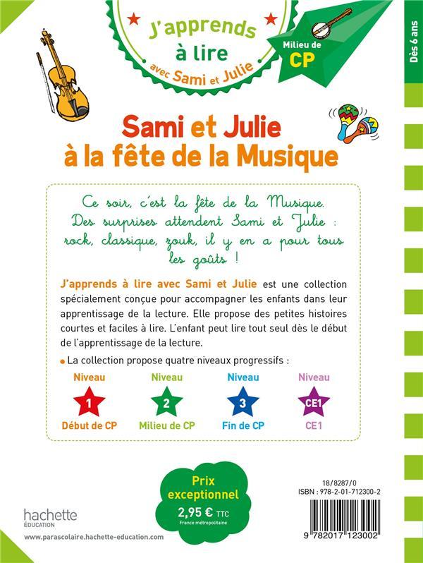 J'apprends à compter avec Sami et Julie ; Sami et Julie à la fête de la musique