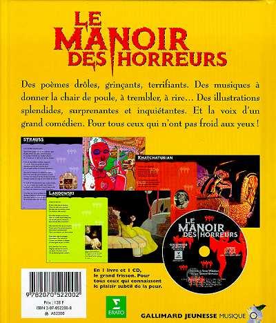 Le manoir des horreurs (livre-cd)