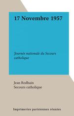 17 Novembre 1957  - Secours catholique - Jean Rodhain