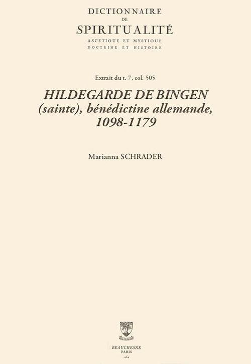 HILDEGARDE DE BINGEN (sainte), bénédictine allemande, 1098-1179