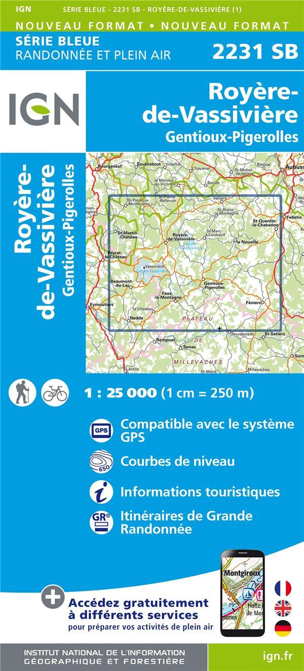 2231SB ; Royère-de-Sassivière, Gentioux-Pigerolles