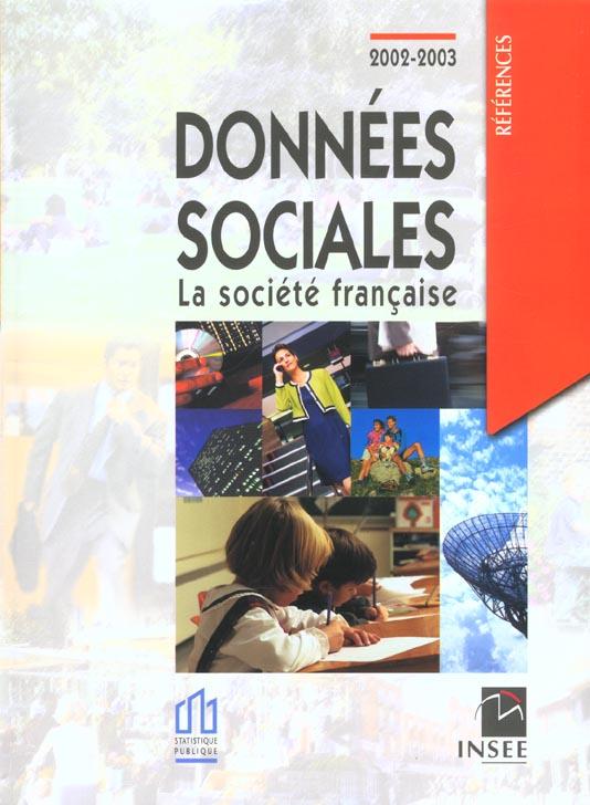 Donnees sociales 2002-2003 ; la societe francaise