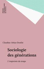 Vente EBooks : Sociologie des générations  - Claudine Attias-Donfut