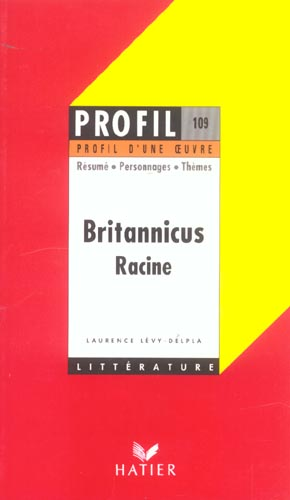 RACINE+LEVY-DELPLA-L - BRITANNICUS, DE JEAN RACINE
