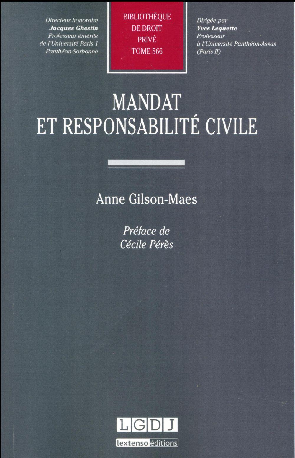 mandat et responsabilité civile