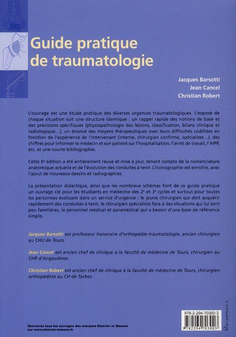 Guide pratique de traumatologie (6e édition)