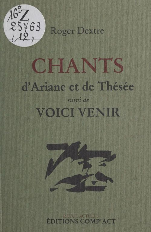 Chants d'Ariane et de Thésée