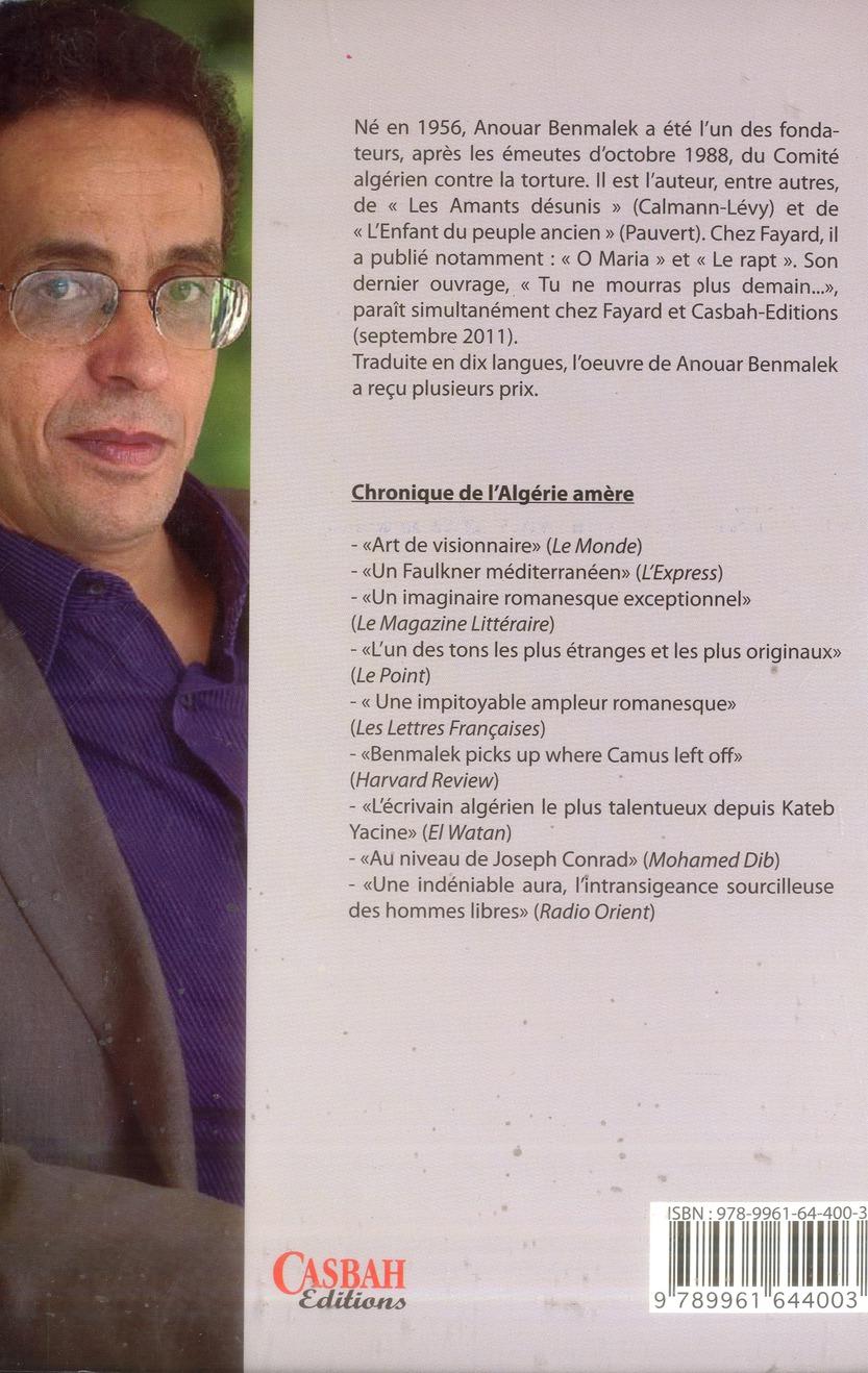Chroniques de l'Algérie amère : Algérie 1985-2011