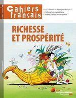 Vente Livre Numérique : Cahiers français : Richesse et prospérité - n°400  - La Documentation française