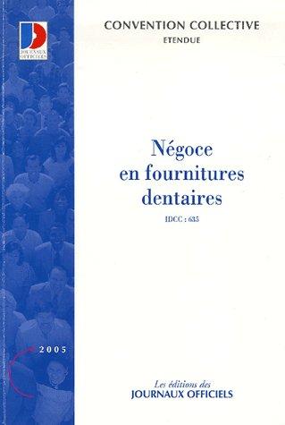 Negoce En Fournitures Dentaires N 3033 2005