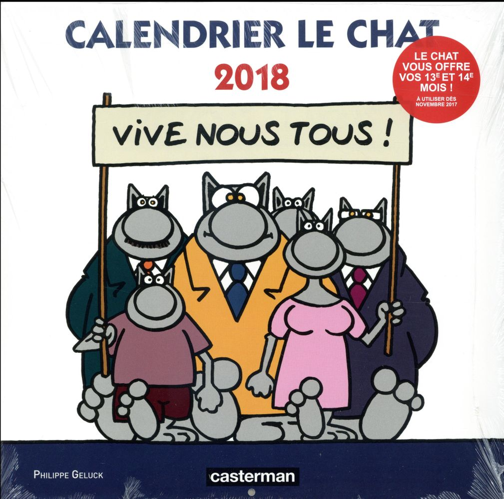 CALENDRIER LE CHAT 2018 Geluck Philippe