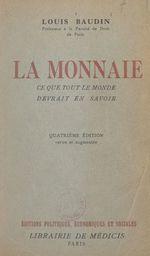 Vente Livre Numérique : La monnaie  - Louis Baudin