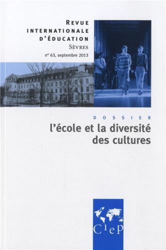Revue internationale d'education de sevres n.63 ; l'ecole et la diversite des cultures