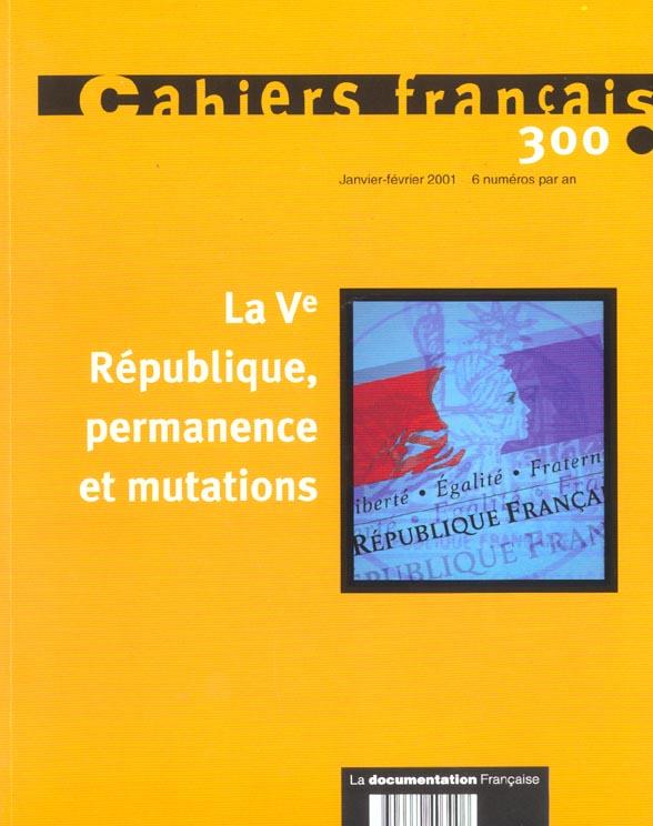 cahiers français n.300