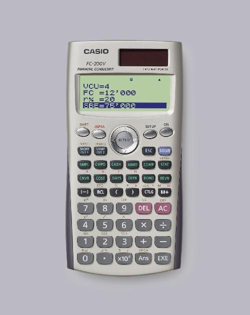 CALCULATRICE FINANCIÈRE FC200V