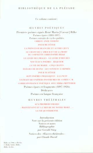 Oeuvres poétiques et théâtrales