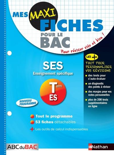 MES MAXI FICHES ABC DU BAC t.14 ; sciences économiques et sociales ; terminale ES ; enseignement spécifique (édition 2017)
