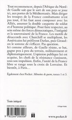 Mémoires de guerre t.2 ; l'unité : 1942-1944