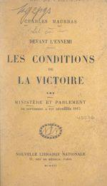 Les conditions de la victoire (3). Ministère et Parlement, de septembre à fin décembre 1915