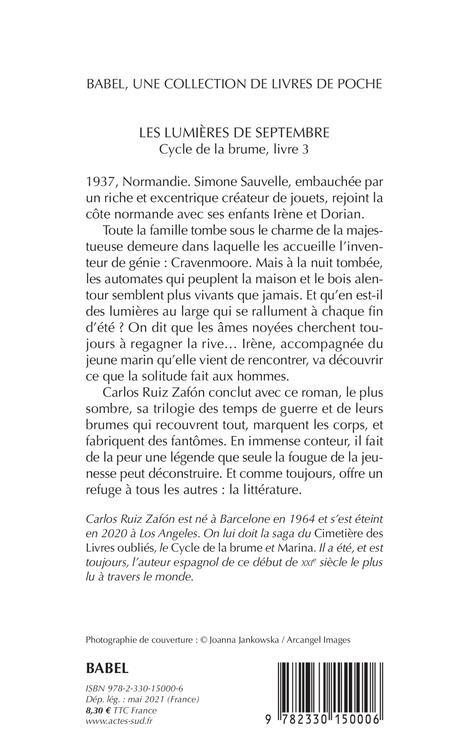 Cycle de la brume t.3 ; les lumières de septembre