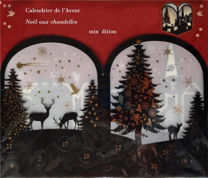 calendrier de l'avent ; Noël aux chandelles