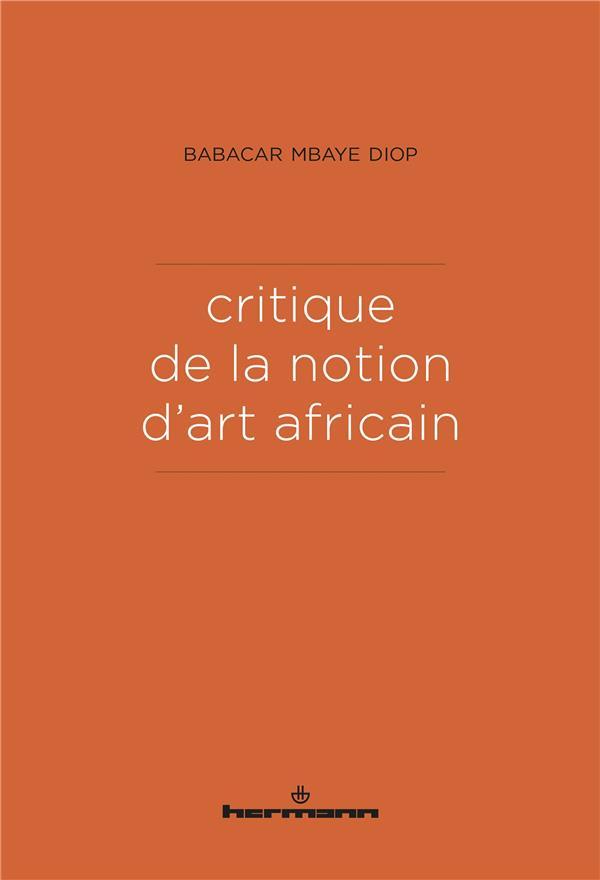 Critique de la notion d'art africain
