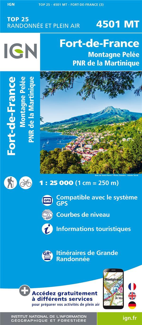 4501MT ; Fort de France, montagne Pelée, PNR de Martinique (3e édition)