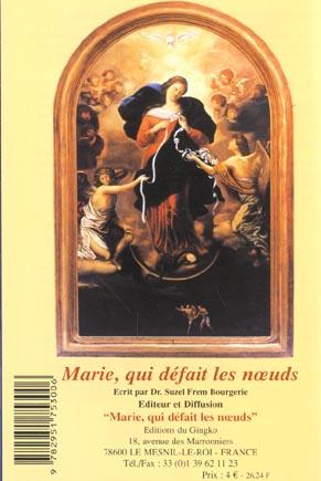 Marie Qui Defait Les Noeuds Suzel Frem Bourgerie Du Gingko Grand Format Les Mots Les Choses Boulogne Billancourt