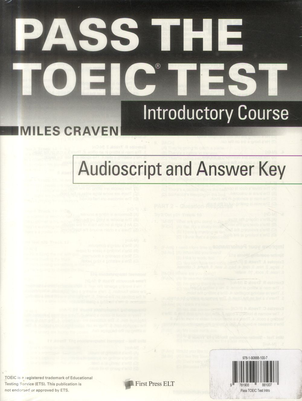 Pass the TOIEC test ; introductory course with complete audio program answer key and audioscript