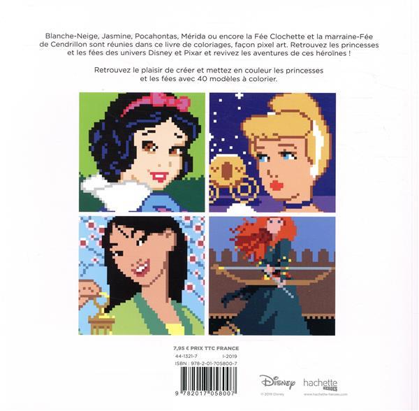 Carrés mystères à colorier ; princesses et fées