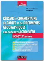Vente Livre Numérique : Réussir le commentaire de cartes et de documents géographiques aux concours Agro-Veto  - Frank Paris - Claude Martinaud
