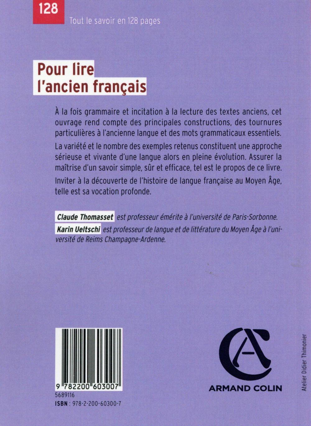 pour lire l'ancien français (3e édition)