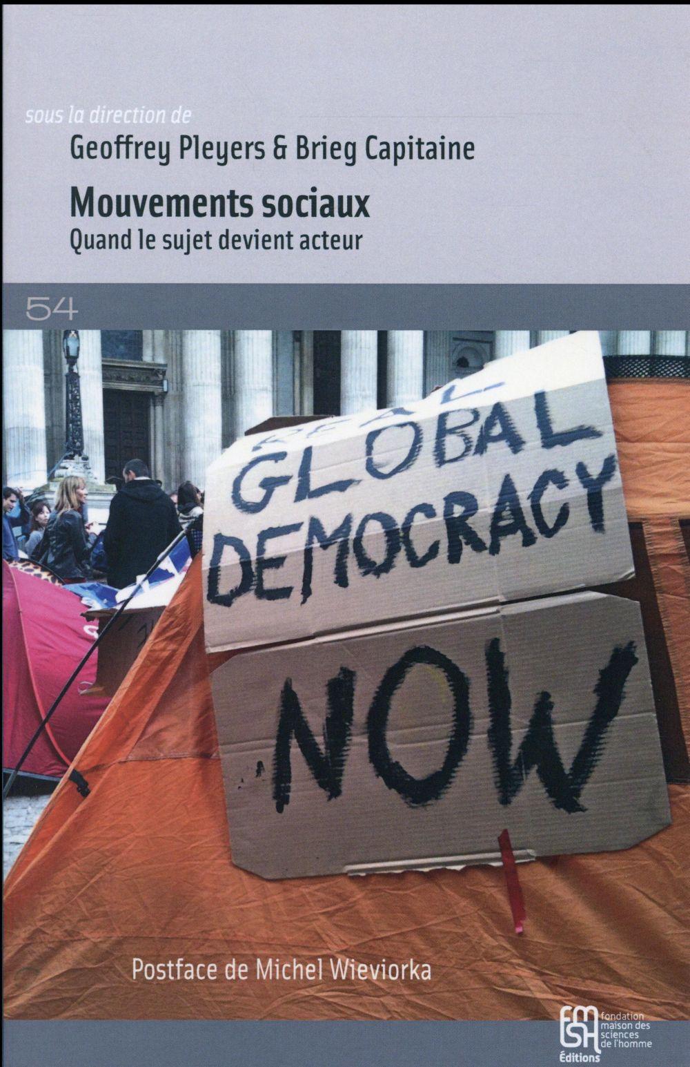 mouvements sociaux - quand le sujet devient acteur