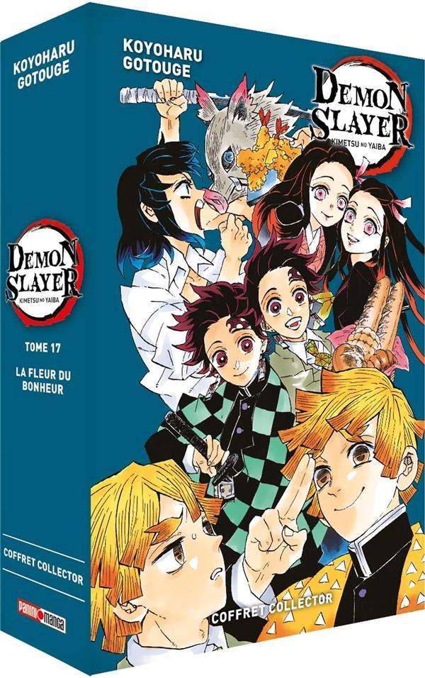 Demon slayer ; coffret ; t.17 et roman t.1
