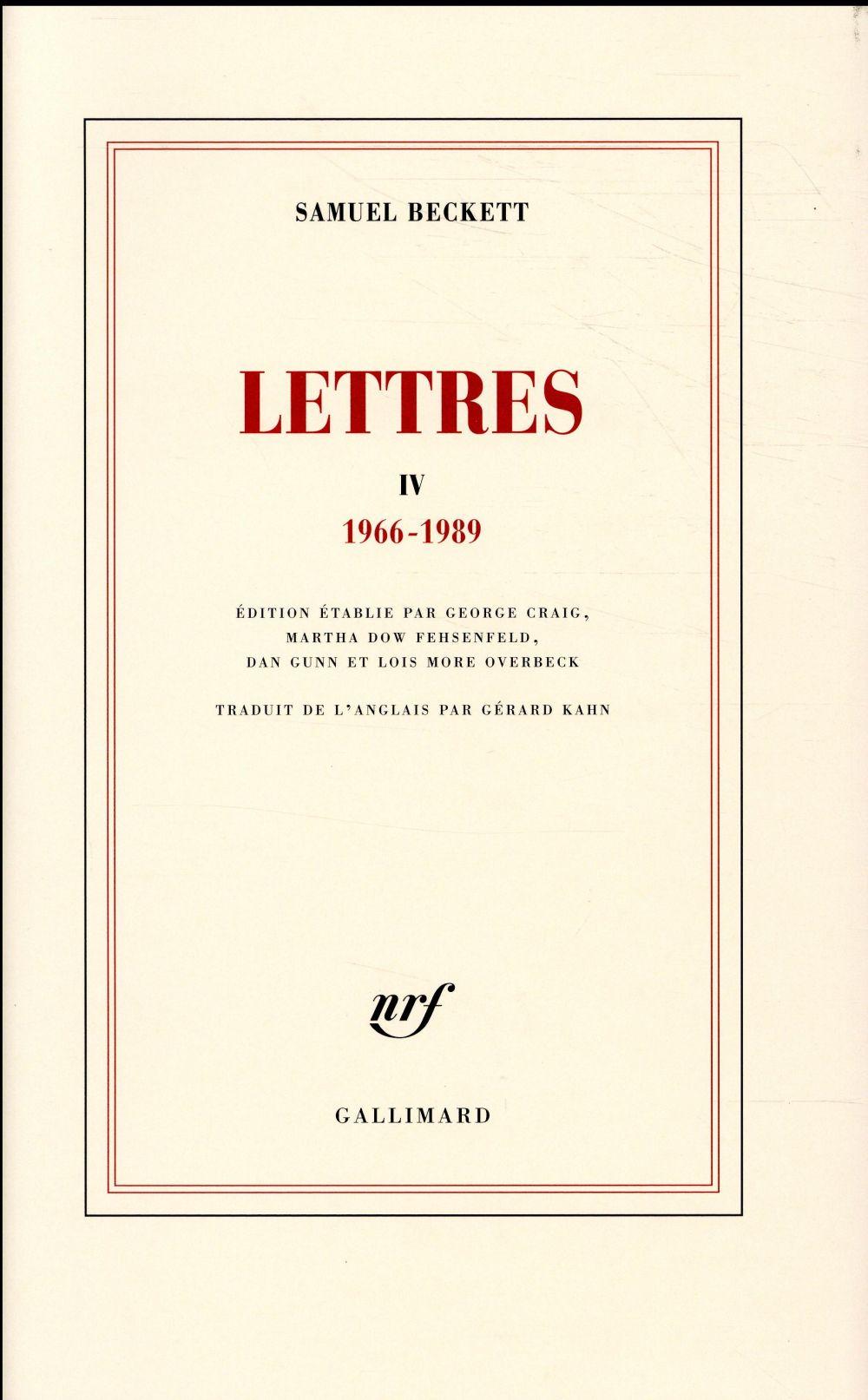 LETTRES IV - (1966-1989)