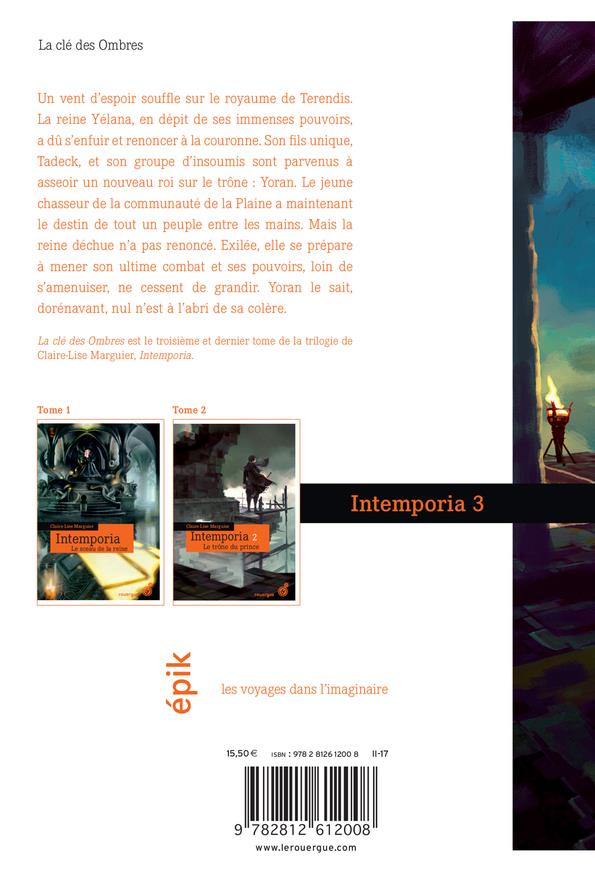 Intemporia t.3 ; la clé des ombres