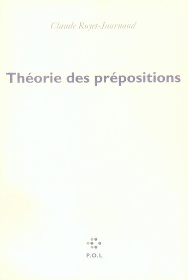 Theorie Des Prepositions