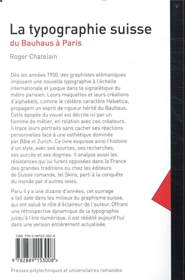 La typographie suisse ; du Bauhaus à Paris (2e édition)